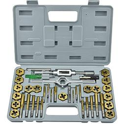 Neiko 00911A Tap and Die Set, Premium, SAE, Titanium Coated,