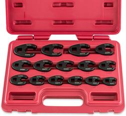 """Neiko 03324A 3/8"""" and 1/2"""" Drive Metric Crowfoot Wrench Set"""