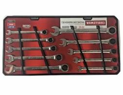 Craftsman 10-Piece Ratcheting Combination Wrench Set Inch/Me