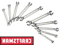 Craftsman 10 Piece SAE and Metric Flare Nut Wrench Set