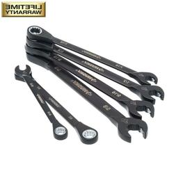 100-Position Double Ratcheting Wrench Set SAE Fasteners 6-Pi