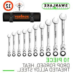 10pc flex head ratcheting wrench set 8