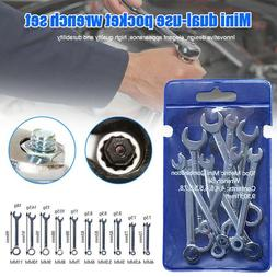 10Pcs Mini Engineer <font><b>Wrench</b></font> Dual Heads <f