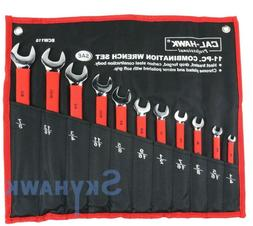 11 pc sae soft grip combination wrench