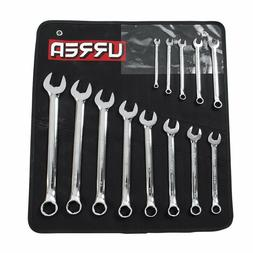 URREA 1200DHM 6-Point Combination Wrench Set, 13-Piece