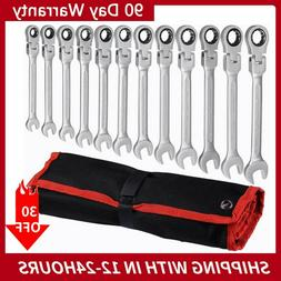 12pc 8 19mm flexible metric combination wrench