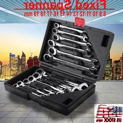 12pcs 8 19mm fixed gear wrench set
