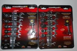 GearWrench 14-PC Inch/Metric Ratcheting Stubby Combination W