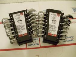 14 Piece Stubby Combination Wrench Set SAE/Metric Tool Holde