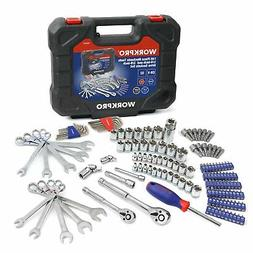 Workpro 145 Piece Mechanic Tool Kit 1/4-inch and 3/8-inch Dr
