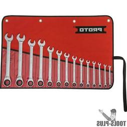 """14pc - 1/4"""" to 1"""" SAE Combo Ratcheting Wrench Set 12 pt Prot"""