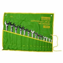 14pc piece sae standard combination wrench set