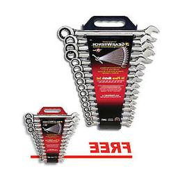 GearWrench 16-Piece Metric 12-Point Combination Ratcheting W