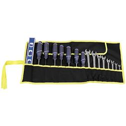 Evelots 16 Pocket Tool Roll Bag-Pouch-Canvas-Wrench-Tie-Stra