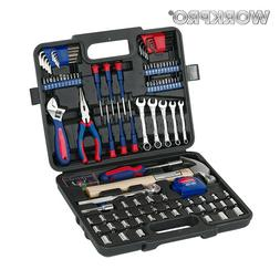 WORKPRO 165PC Home Repair Tool Set Ratchet Wrench Sockets