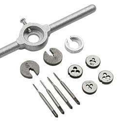 1Set Mini HSS Metric Taps Dies Wrench Handle Kit M1-M1.6 Scr