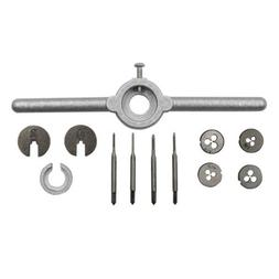 1Set Mini HSS Metric Taps Dies Wrench Kit M1-M1.6  HandleScr