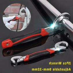 2 Adjusting Multi Wrench Set One Handed Universal Pipe Spann