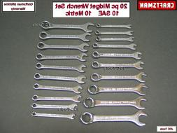 CRAFTSMAN 20 pc Full Polish Midget Ignition SAE & MM Wrench