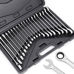 HORUSDY 20-Piece Ratcheting Wrench Set, SAE and Metric, Ratc