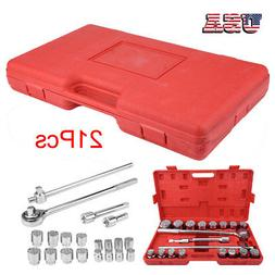 "21 Pc 3/4"" Drive Socket Wrench Set standard sae Tools Truck"