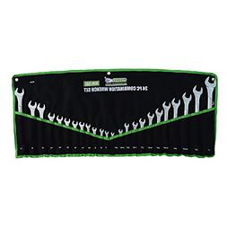 24 pc combination wrench set mm sae