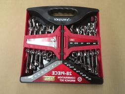 28 piece Husky Combination SAE and Metric Wrench Set 12-poin