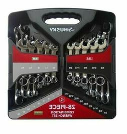 Husky 28-Piece SAE and Metric Combination Wrench Set - NEW