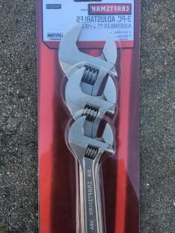 Craftsman 3 Pc Adjustable Wrench Set 6in 8in 10in 44664 Made