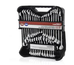 32 Piece Wrench Set Metric SAE Standard Stubby Nickel Chrome