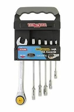 Channellock 38041 Ratcheting Wrench Set Metric On Rack, 6-Pi