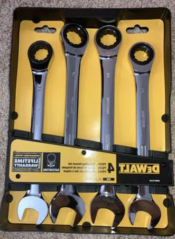 4 piece ratcheting wrench set new 21