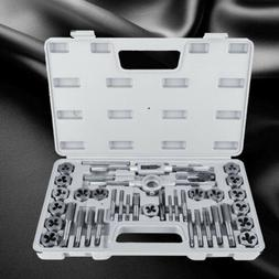 40Pcs Screw Nut Tap and Die Set M3-M12  with Wrenches and Th