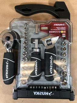 Husky 46 Piece Stubby Combination Wrench and Socket Set - SA