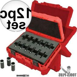 MILWAUKEE 49664301 Metric Impact Socket Set,1/4 In,12 Pc