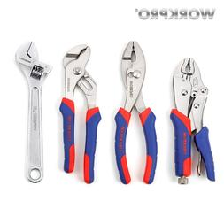 WORKPRO 4PC <font><b>Pliers</b></font> and <font><b>Wrench</