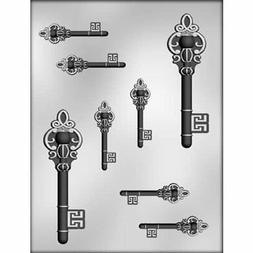 5-Inch and 2-1/2-Inch Skeleton Keys Chocolate Mold