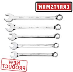 Craftsman 5 Pcs Large Combination Wrench Set 12 Point Inch W