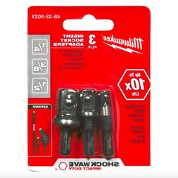 Milwaukee 48-32-5023 3 pc Insert Socket Adapter Set