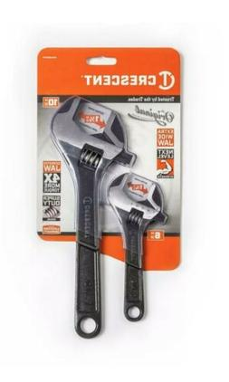 Crescent 6 in. and 10 in. Wide Jaw Adjustable Wrench Set