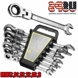 6Pcs Ratchet Wrench Reversible Ratcheting Combination Wrench