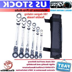 6pcs Extra Long Ratcheting Wrenches Spanner Set Double Box E