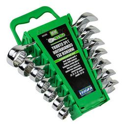 7 Piece Stubby Combination Wrench Set Metric Storage Rack Ca