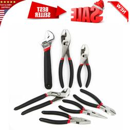 7-Piece Utility Pliers and Wrench Set, Includes Slip Joint P