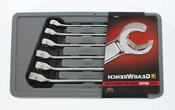 GearWrench 81906 6-Piece Flare Nut Metric Wrench Set