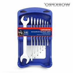 WORKPRO 8PC CRV Metric Double End Wrench Set Steel Spanner S
