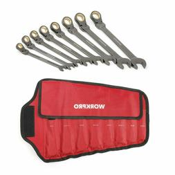 WORKPRO 8pc SAE or Metric Flex-Head Ratcheting Combination W