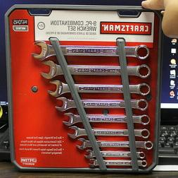 Craftsman 9-pc Combination Wrench Set, 12 pt, Metric- NEW- 8