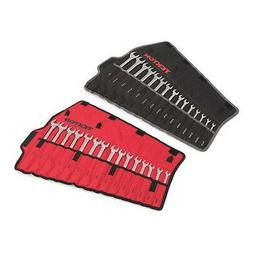 TEKTON 90192 Combination Wrench Set With Roll-Up Storage Pou