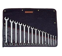 Wright Tool 915 Full Polish 12 Point Combination Wrench Set